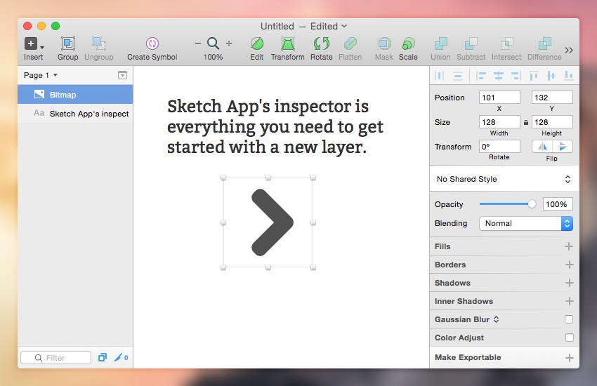 Sketch App的检查器是您开始新图层所需的一切。